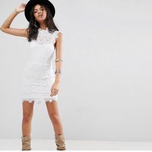 Free people daydream while lace dress